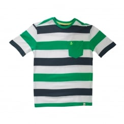 Original Penguin Youths Stripe 116 T-Shirt (Spearmint)