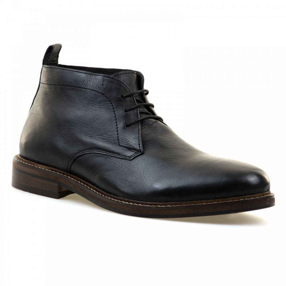 paolo vandini mens nedging chukka boots black boots