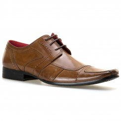 Paolo Vandini Mens Newland Lace-Up Panel Shoes (Tan)