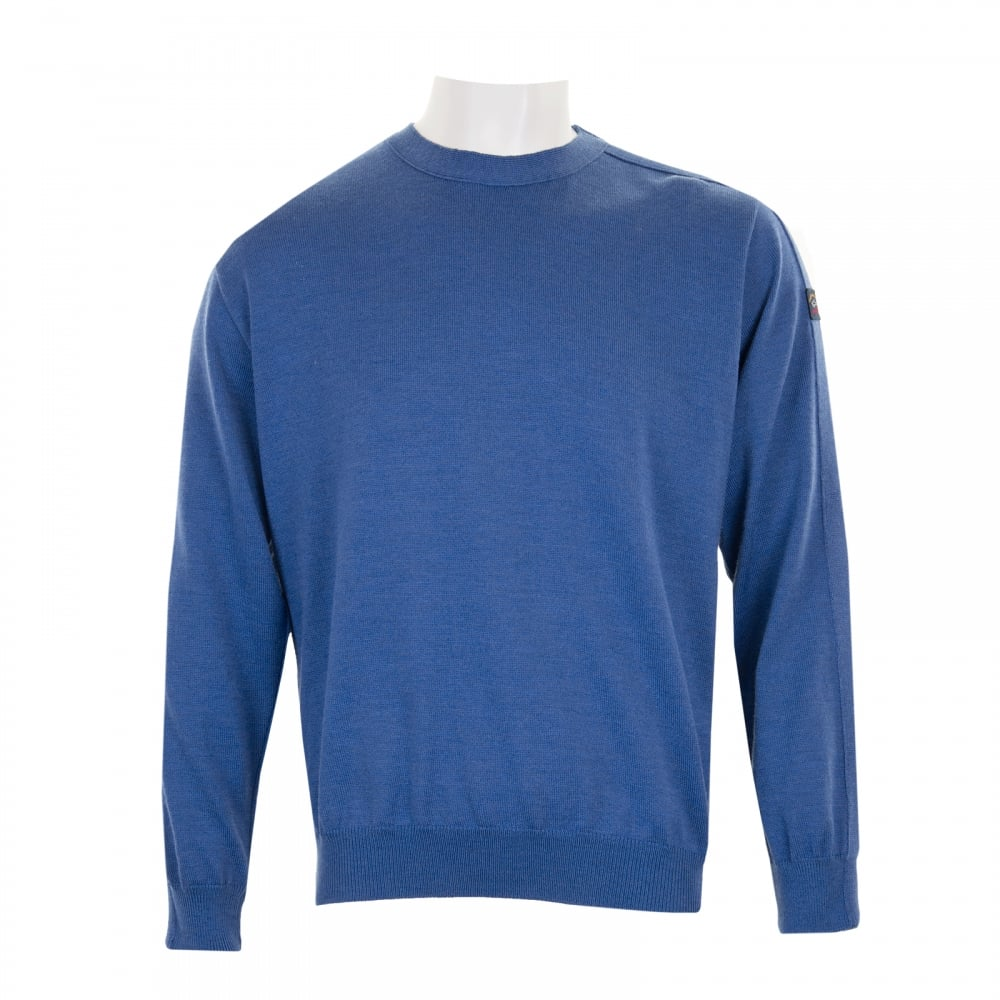 Paul & Shark Mens Cool Touch Crew Knit Sweater (Blue ...