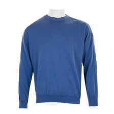 Paul & Shark Mens Cool Touch Crew Knit Sweater (Blue)