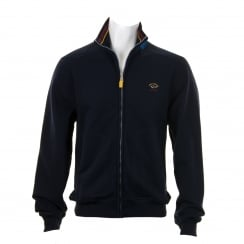 Paul & Shark Mens Diamond Peach Zip Sweatshirt (Navy)