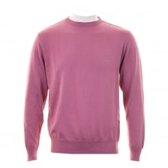 Paul & Shark Mens Fine Gauge Crew Neck Knit Sweater (Pink)