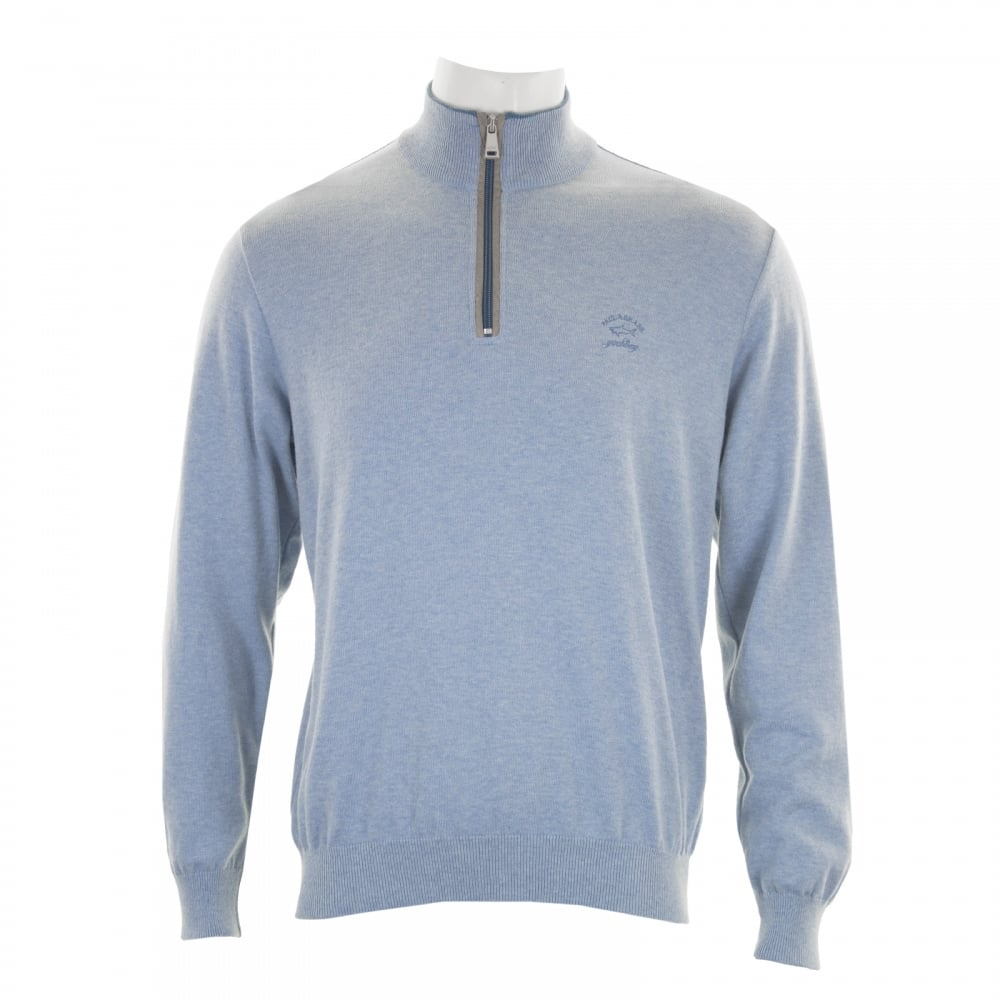 Paul & Shark Mens Half Zip Knit Sweater (Blue) - Mens from Loofes UK