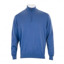 Paul & Shark Mens Half Zip Sweatshirt (Blue)