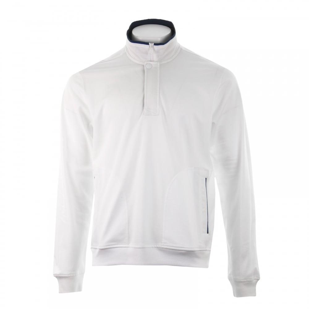 dff4f79c96 Paul & Shark Mens Half Zip Sweatshirt (White) - Mens from Loofes UK