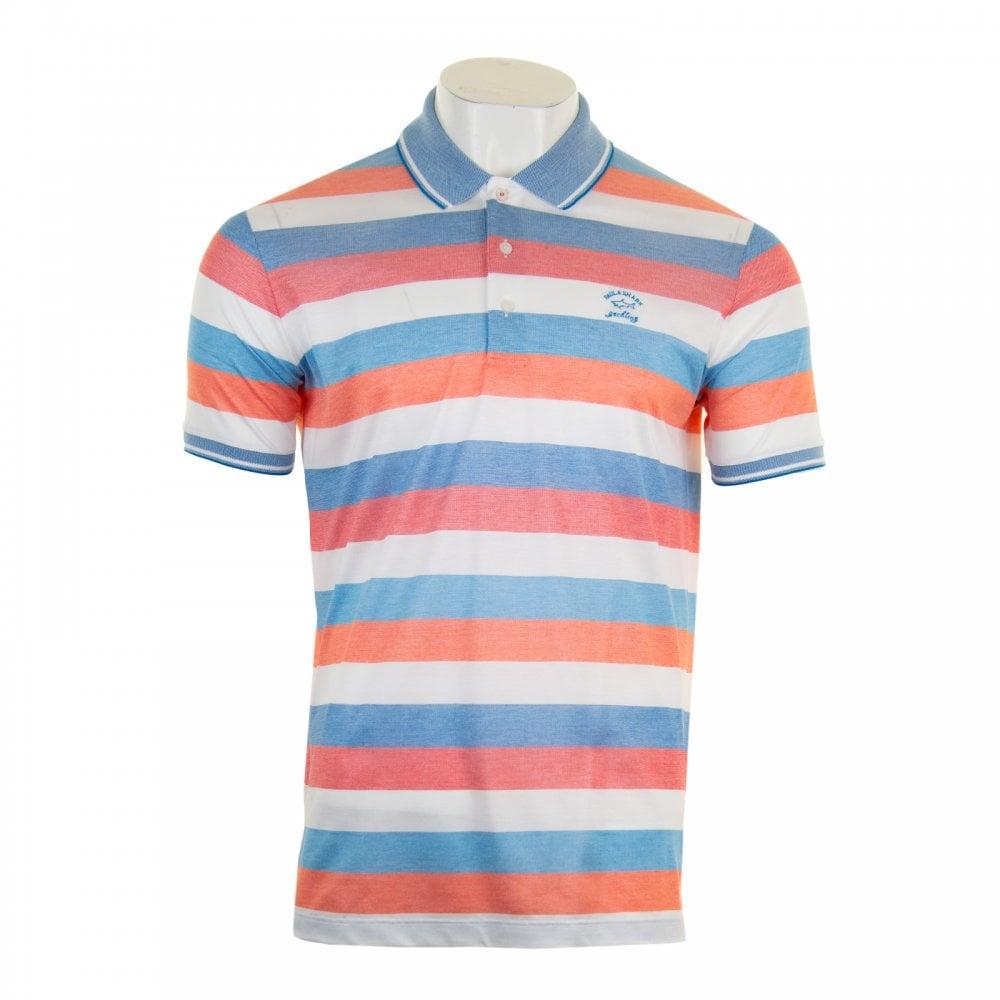 9dc5ebc3 Paul & Shark Mens Heritage Stripe Polo Shirt (Pink) - Mens from ...