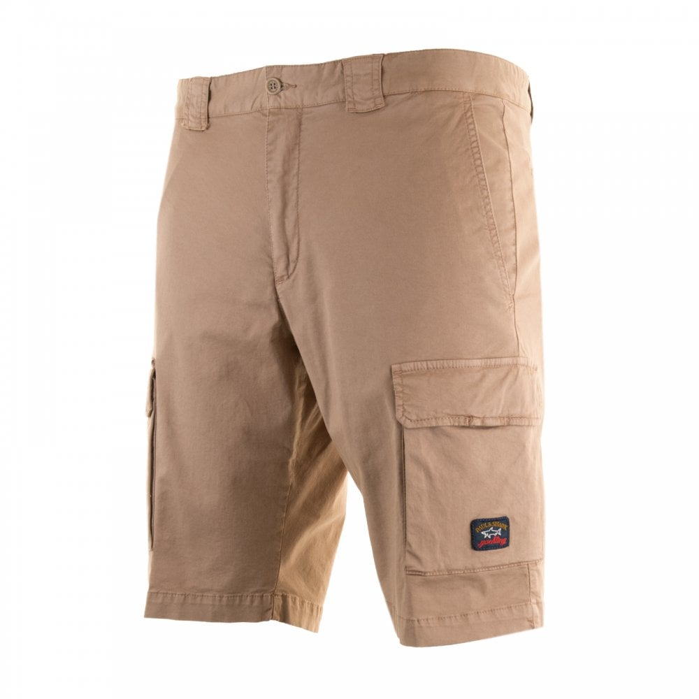 5d30163db3 Paul & Shark Mens Logo Patch Cargo Shorts (Sand) - Mens from Loofes UK