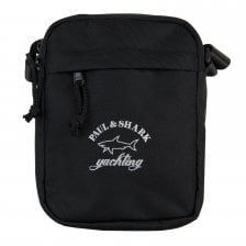 1c32c2575114 Paul   Shark Mens Logo Shoulder Bag (Black)