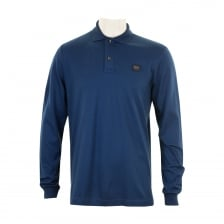 Paul & Shark Mens Long Sleeve Embroidered Polo Shirt (Royal)