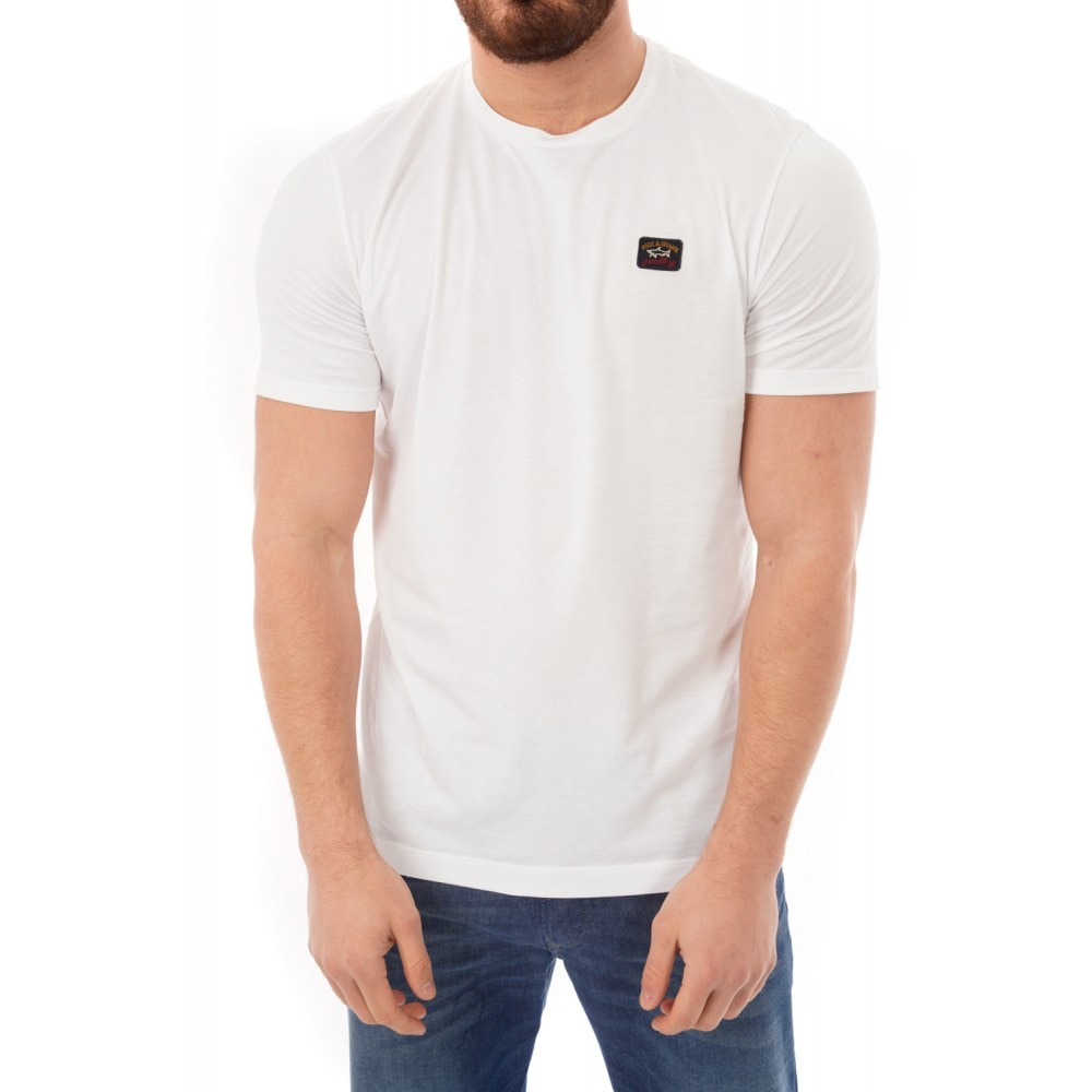 9777ca21f1 Paul & Shark Mens Patch Logo T-Shirt (White) - Mens from Loofes UK