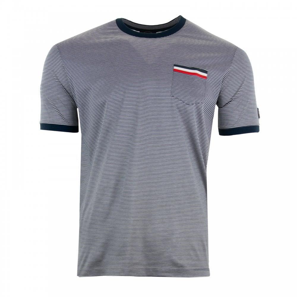 98a9c8f0aa Paul & Shark Mens Pocket Stripe T-Shirt (Navy/White) - Mens from ...