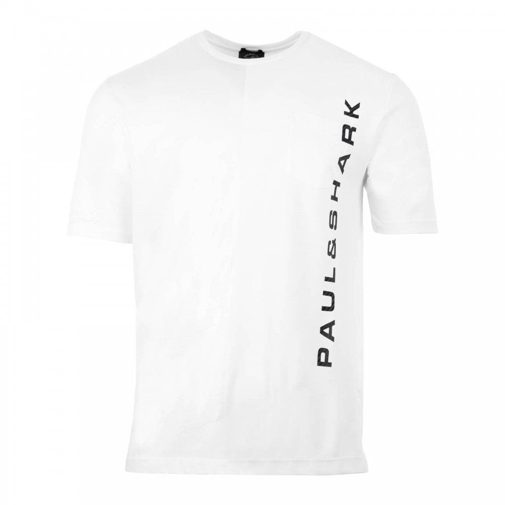 f0f017a919 Paul & Shark Mens Pocket T-Shirt (White) - Mens from Loofes UK