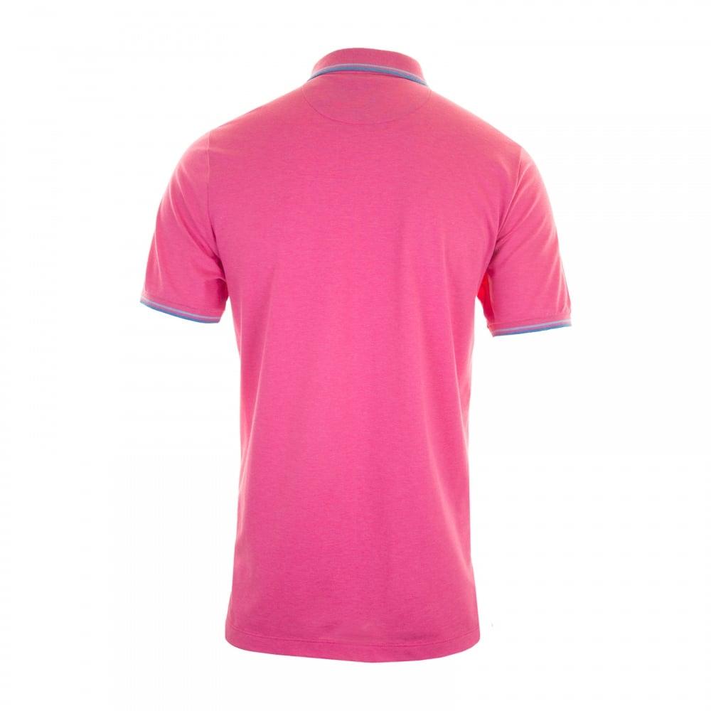 Paul Shark Mens Polo Shirt Pink Mens From Loofes Uk