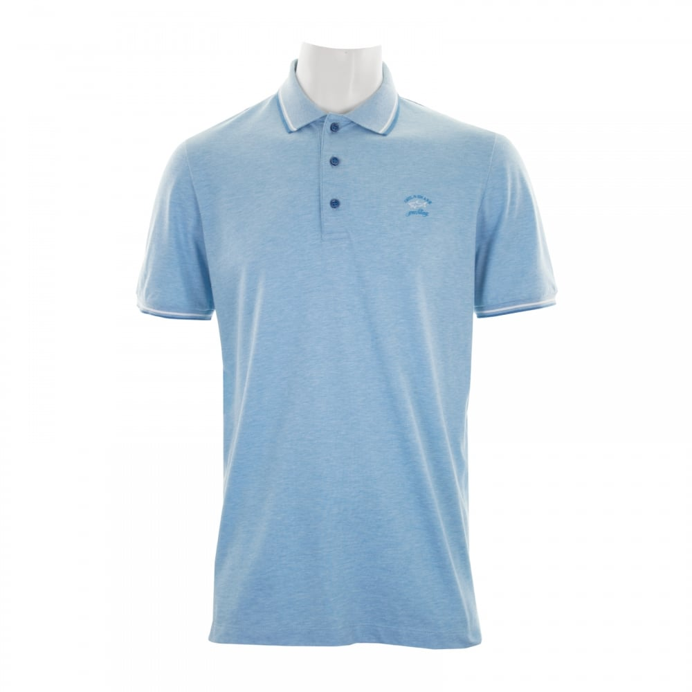8f51e5cb83 Paul & Shark Mens Polo Shirt (Sky) - Mens from Loofes UK