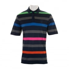 Paul & Shark Mens Stripe Polo Shirt (Navy)