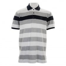 Paul & Shark Mens Stripe Polo (White/Grey/Navy)