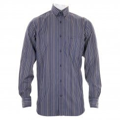 Paul & Shark Mens Stripe Shirt (Navy)
