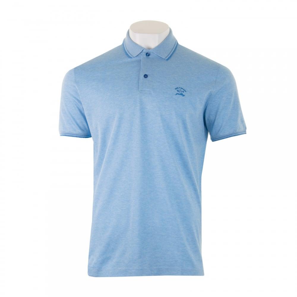 Paul   Shark Mens Tipped Collar Polo Shirt (Blue) - Mens from Loofes UK 6dedc91958cc