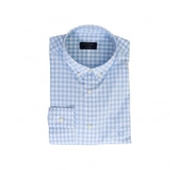 Paul & Shark Mens Yachting Check Shirt (White/Blue)