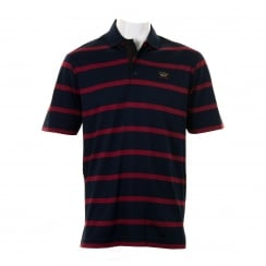 Paul & Shark Mens Yachting Stripe Polo Shirt (Red)