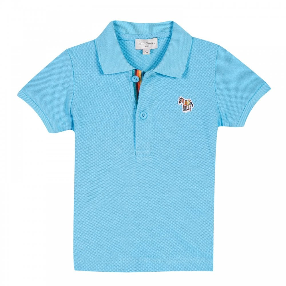 3a20c4d6bd77 ... sweden paul smith infants rock zebra logo polo shirt light blue d6d49  2ca18