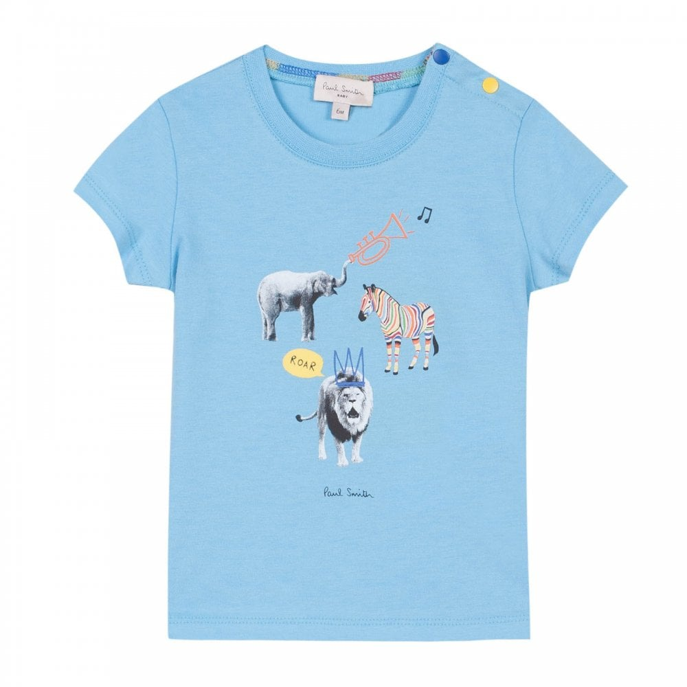 be6879ba27 Paul Smith Juniors Rod Animal Print T-Shirt (Blue) - Kids from Loofes UK
