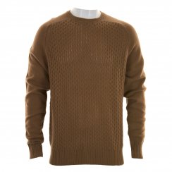 Peter Werth Mens Dykan Cable Knit Sweater (Camel)