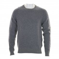 Peter Werth Mens Stanley V-Stitch Crew Neck Sweater (Grey)