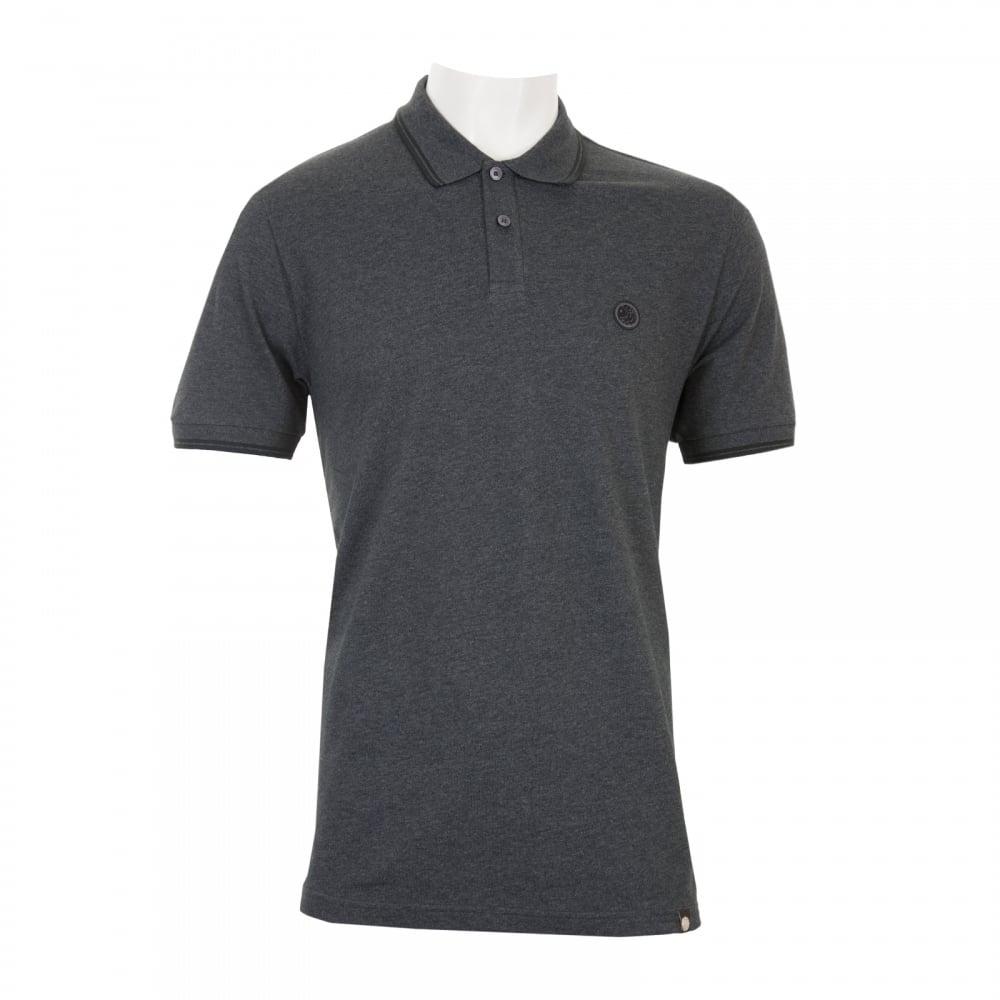 PRETTY GREEN Pretty Green Mens Barton Short Sleeve Polo Shirt (Dark ... 701a8518a