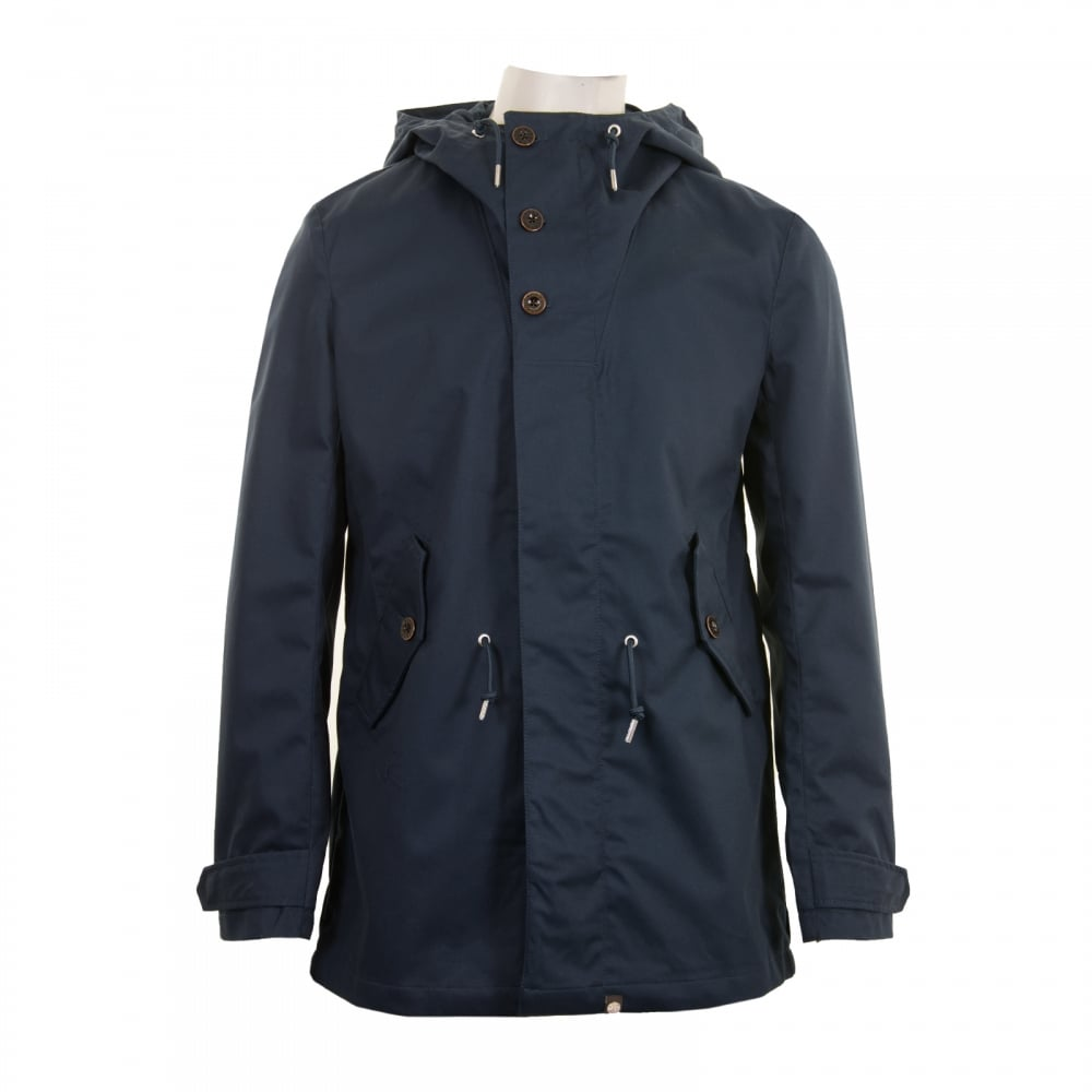 PRETTY GREEN Pretty Green Mens Baxter Parka (Navy) - Mens from ...