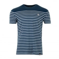 Pretty Green Mens Bretton Stripe T-Shirt (Navy)