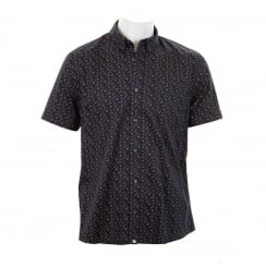 Pretty Green Mens Byland Paisley Print Shirt (Navy)