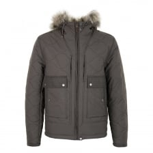 Pretty Green Mens Charnwood Quilted Jacket (Khaki)