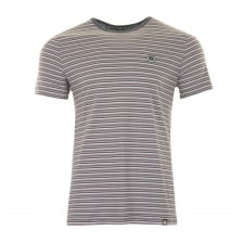 Pretty Green Mens Feeder Stripe T-Shirt (Grey)