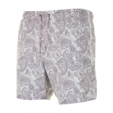 Pretty Green Mens Paisley Print Swim Shorts (Grey)