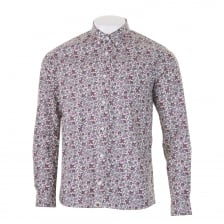 Pretty Green Mens Pier Liberty Print Shirt (Purple)