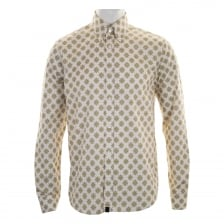 Pretty Green Mens Ritches Flower Print Shirt (Stone)