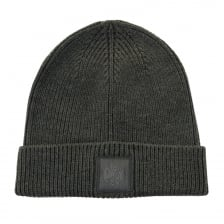 Pretty Green Mens Solid Knitted Beanie (Grey)