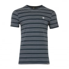 Pretty Green Mens Striped T-Shirt (Navy)