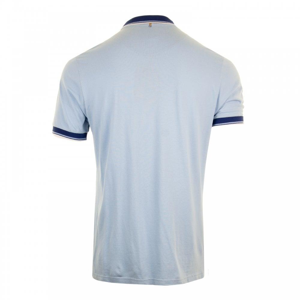 e0e642dc60a96 PRETTY GREEN Pretty Green Mens Tipped Collar Polo Shirt (Light Blue ...