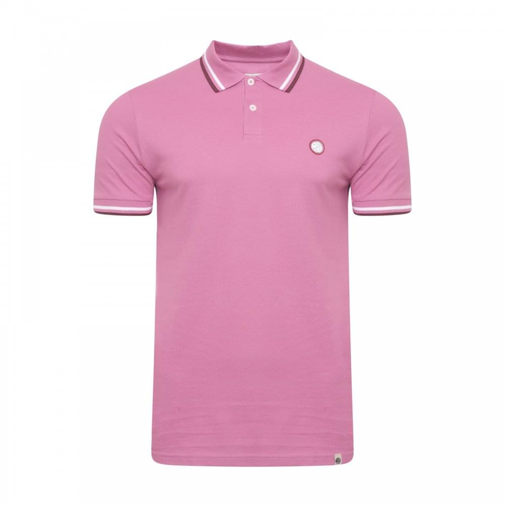 Pretty Green Pretty Green Mens Tipped Polo Shirt Pink Mens From