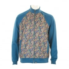 Pretty Green Mens Vintage Paisley Track Top (Blue)