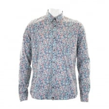 Pretty Green Mens Wilby Print Shirt (Blue)