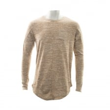 Project X Paris Mens Woven Long Sleeve Pocket T-Shirt (Beige)