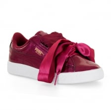 Puma Infants Basket Glam 317 Trainers (Red)