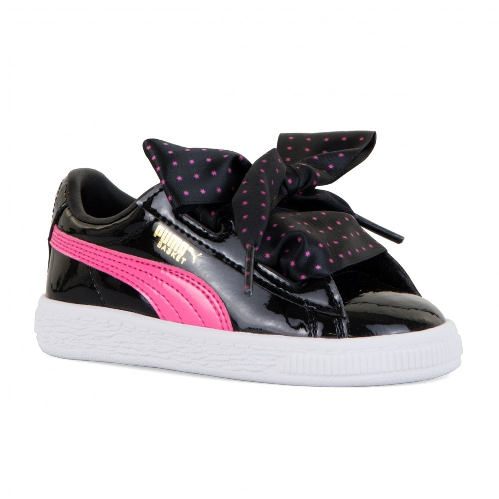 8a265797d0867f Puma Infants Basket Patent Stars Trainers (Black) - Kids from Loofes UK