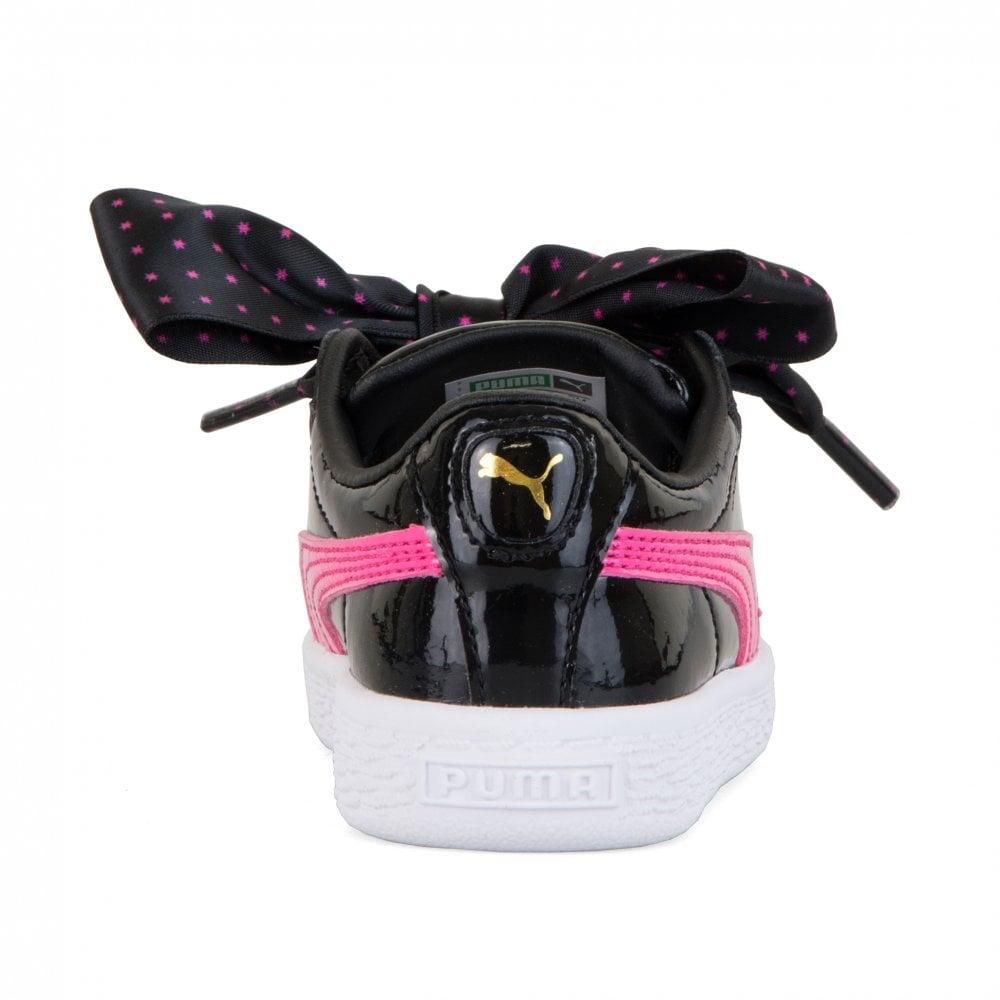f874413cc7bf Puma Infants Basket Patent Stars Trainers (Black) - Kids from Loofes UK