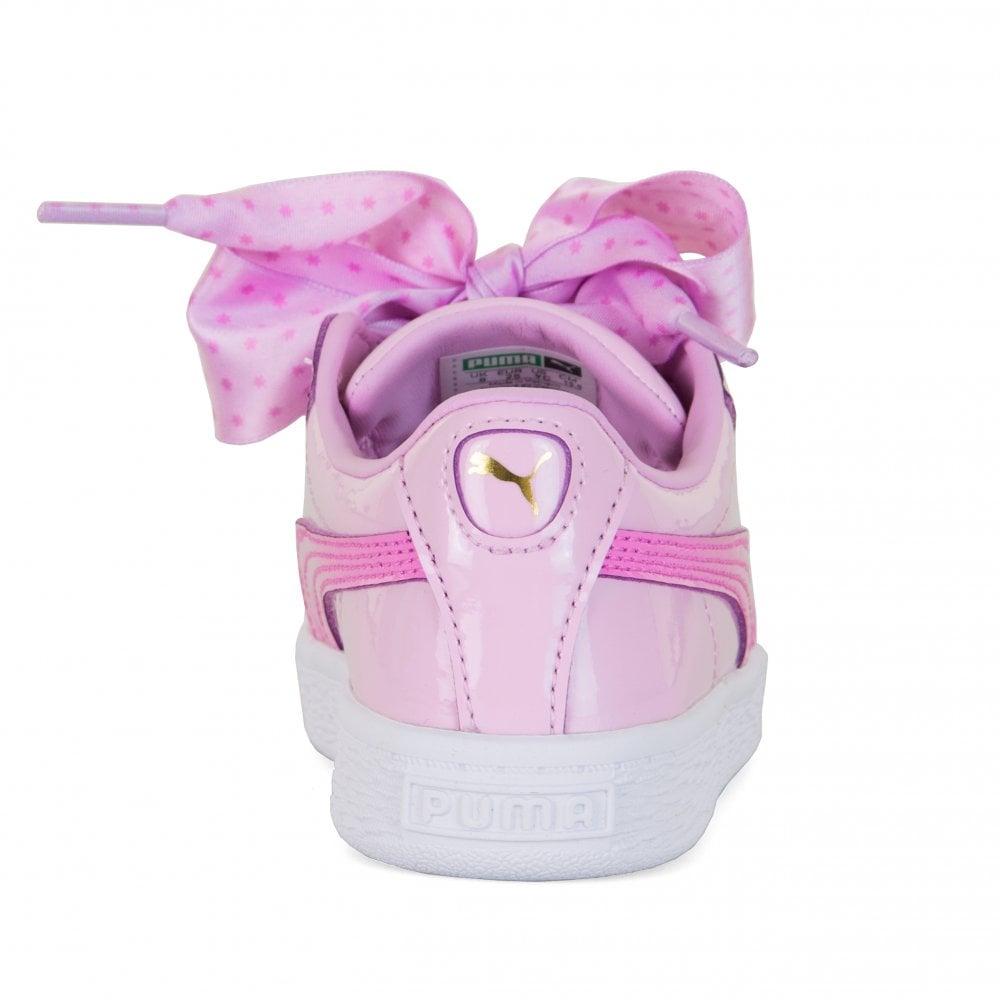 3fdd252b552 Puma Infants Basket Patent Stars Trainers (Orchid) - Kids from Loofes UK