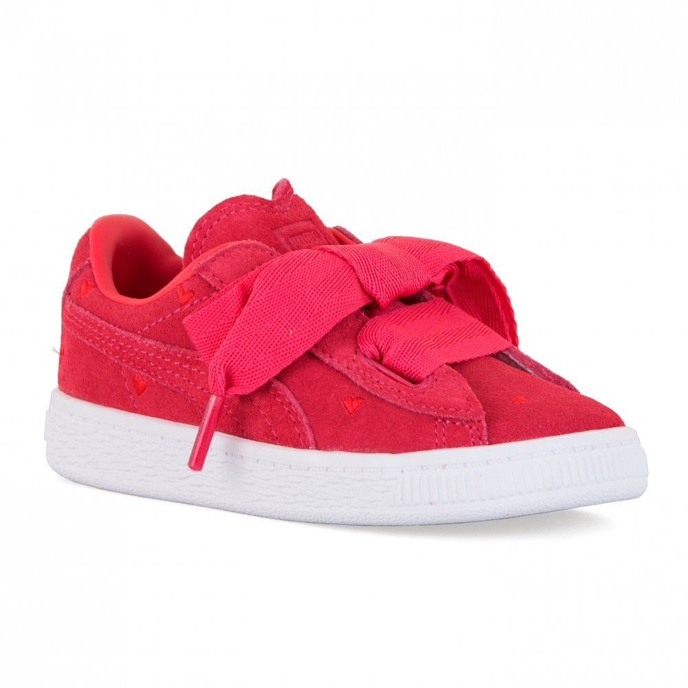 bbad78224826 Puma Infants Suede Hearts Valentine Trainers (Pink) - Kids from ...